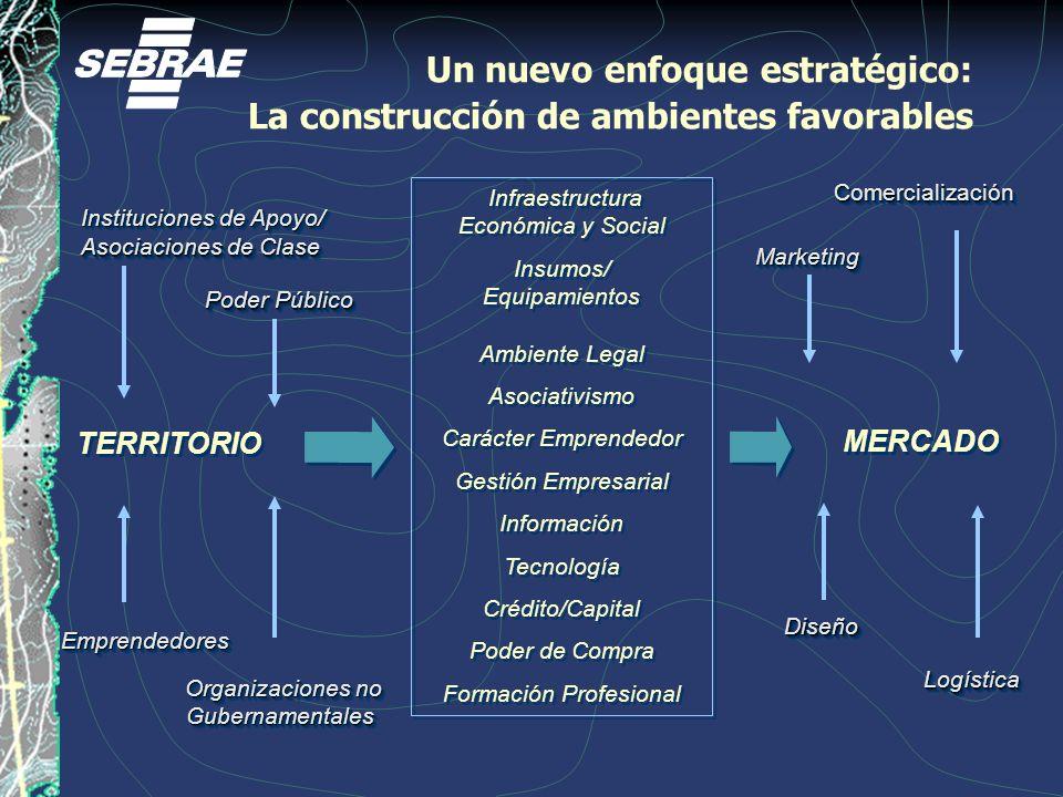 Poder Público EmprendedoresEmprendedores Organizaciones no Gubernamentales Gubernamentales MERCADO DiseñoDiseño ComercializaciónComercialización Logís