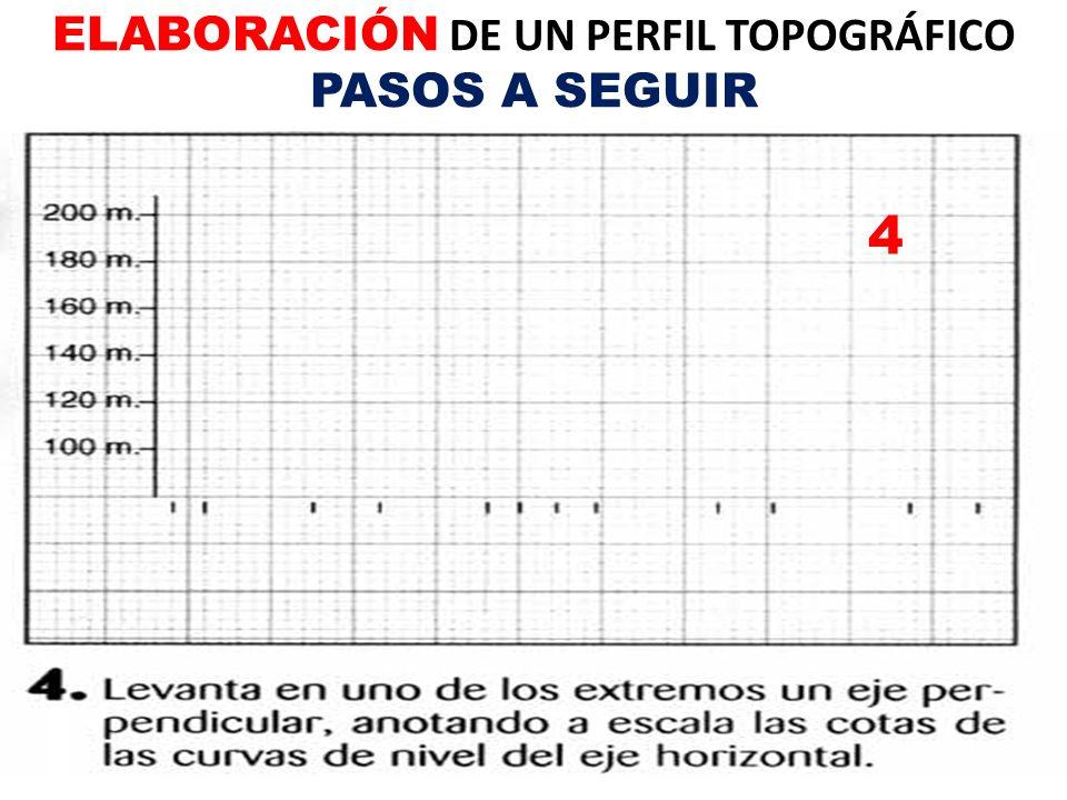 4 ELABORACIÓN DE UN PERFIL TOPOGRÁFICO PASOS A SEGUIR