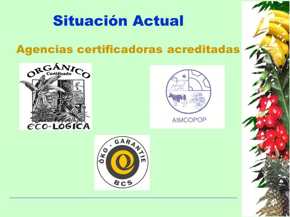 Situación Actual Agencias certificadoras acreditadas