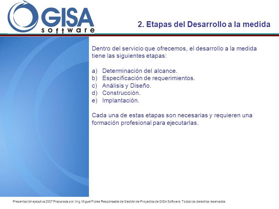 Presentación ejecutiva 2007 Preparada por: Ing.