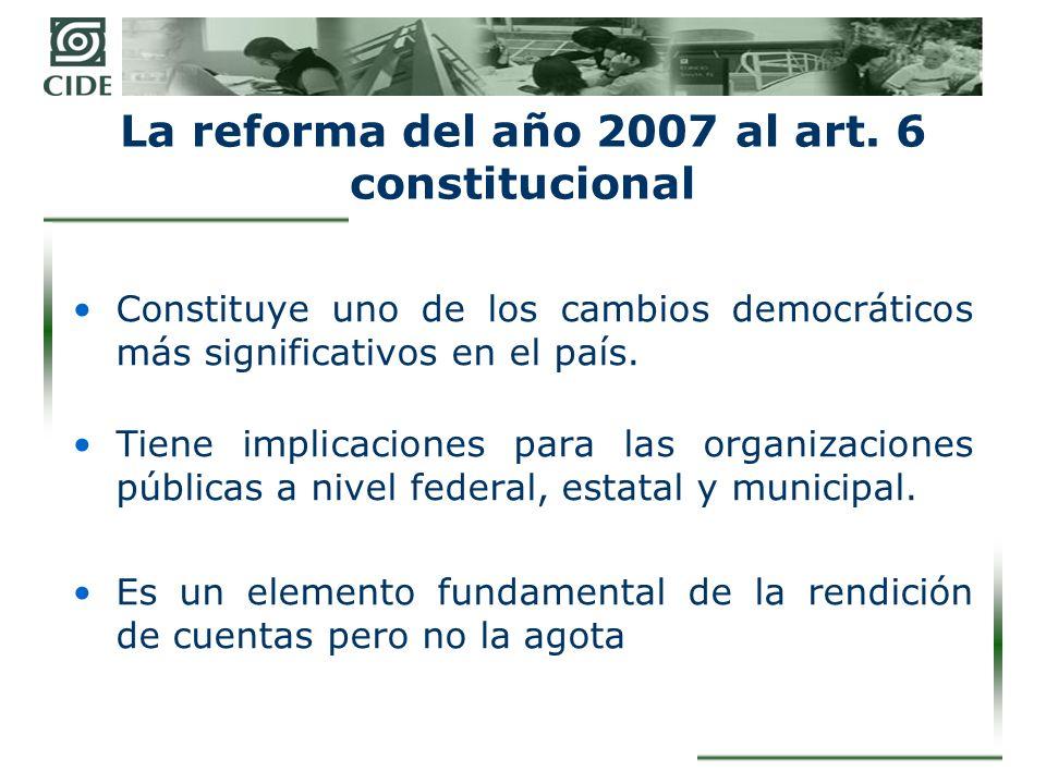 Rendición de cuentas La reforma del art.