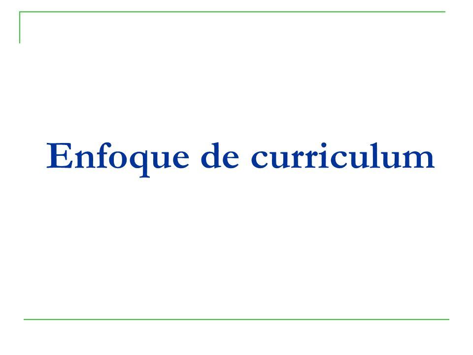 Enfoque de curriculum
