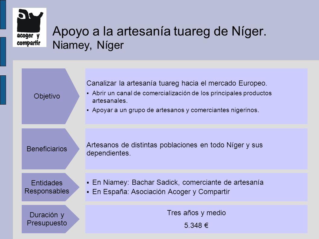 Apoyo a la artesanía tuareg de Níger.