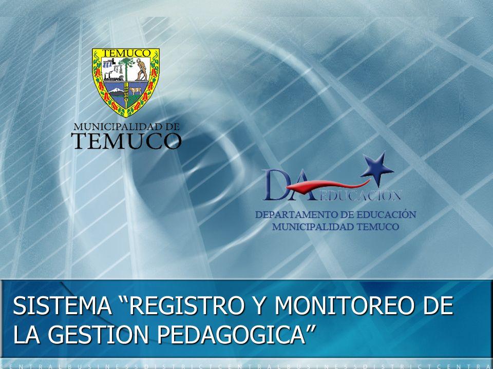 SISTEMA REGISTRO Y MONITOREO DE LA GESTION PEDAGOGICA