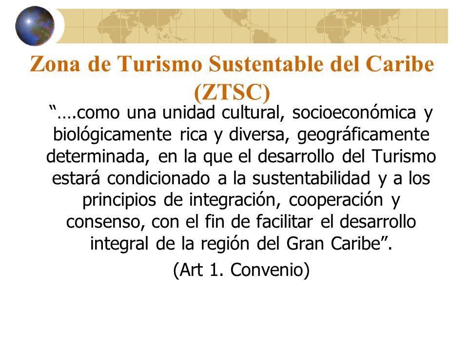 Zona de Turismo Sustentable del Caribe (ZTSC) ….como una unidad cultural, socioeconómica y biológicamente rica y diversa, geográficamente determinada,