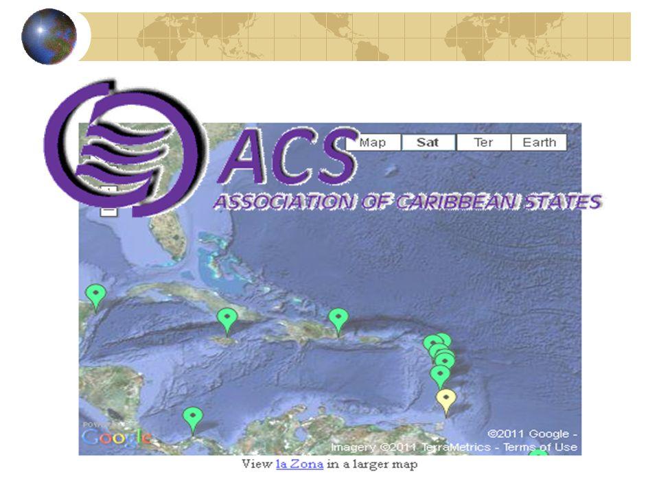 La AEC: dinámica institucional de la cooperación e integración AEC: Estructura Institucional Consejo de Ministros Secretaría General Comités Especiales Cumbres de Presidentes y mandatarios de la AEC Puerto España.