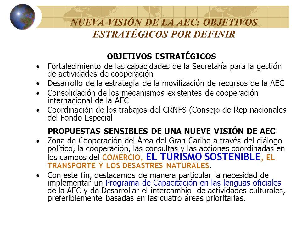 NUEVA VISIÓN DE LA AEC: OBJETIVOS ESTRATÉGICOS POR DEFINIR OBJETIVOS ESTRATÉGICOS Fortalecimiento de las capacidades de la Secretaría para la gestión