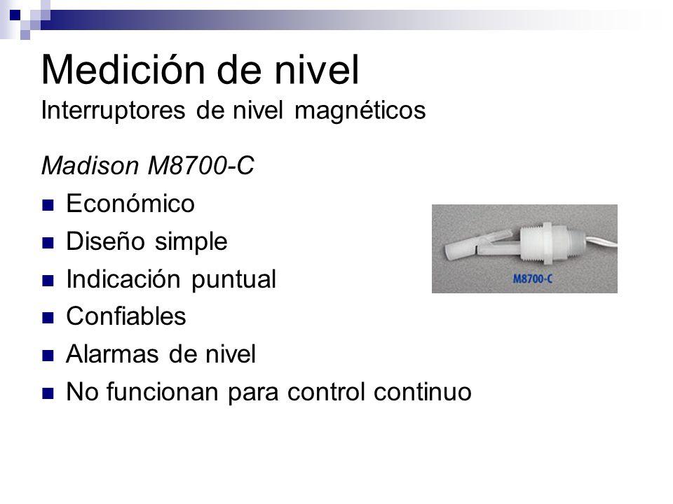 Medición de nivel Interruptores de nivel magnéticos Madison M8700-C Económico Diseño simple Indicación puntual Confiables Alarmas de nivel No funciona