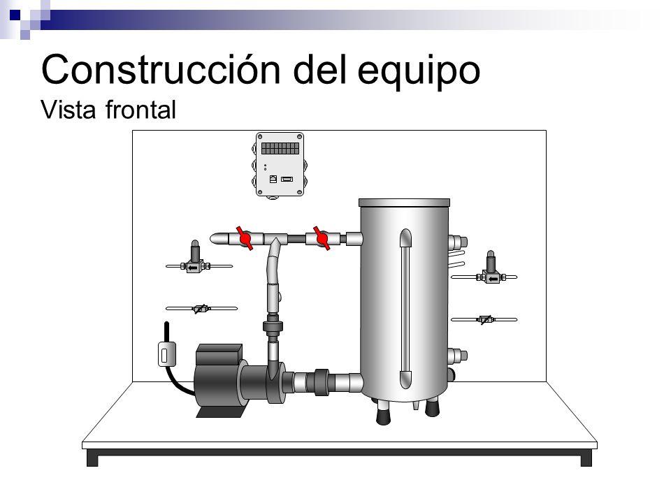 Construcción del equipo Vista frontal