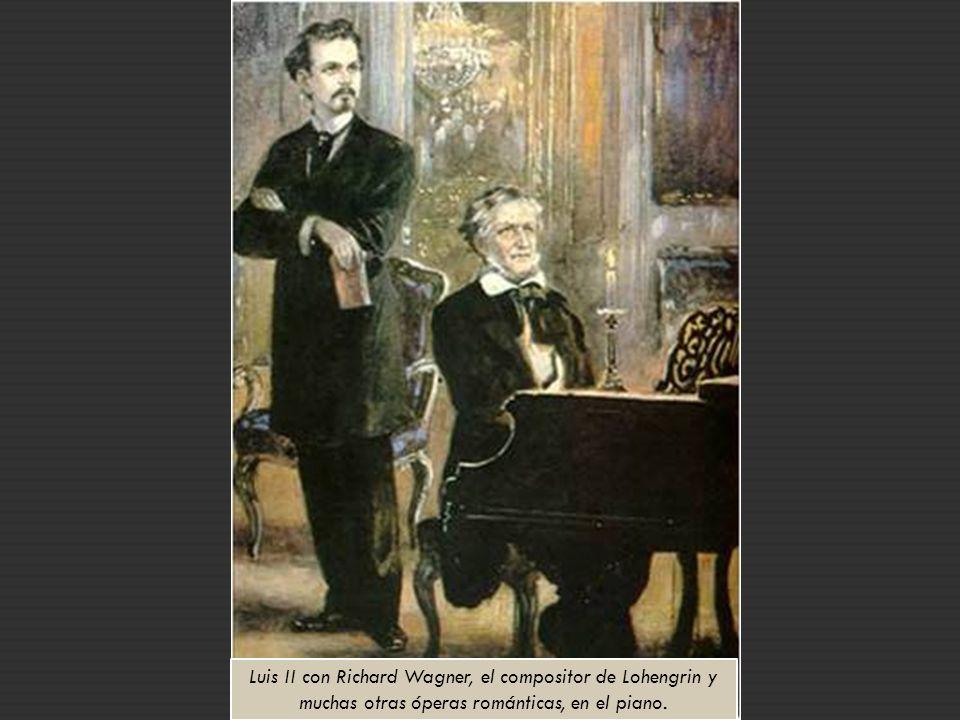 Luis II quería impregnar a su castillo de la obra de su amigo Richard Wagner y para ello recurrió a Christian Jank, un diseñador de escenarios teatrales para que esbozase la obra, que más tarde sería realizada por el arquitecto Eduard Riedel.