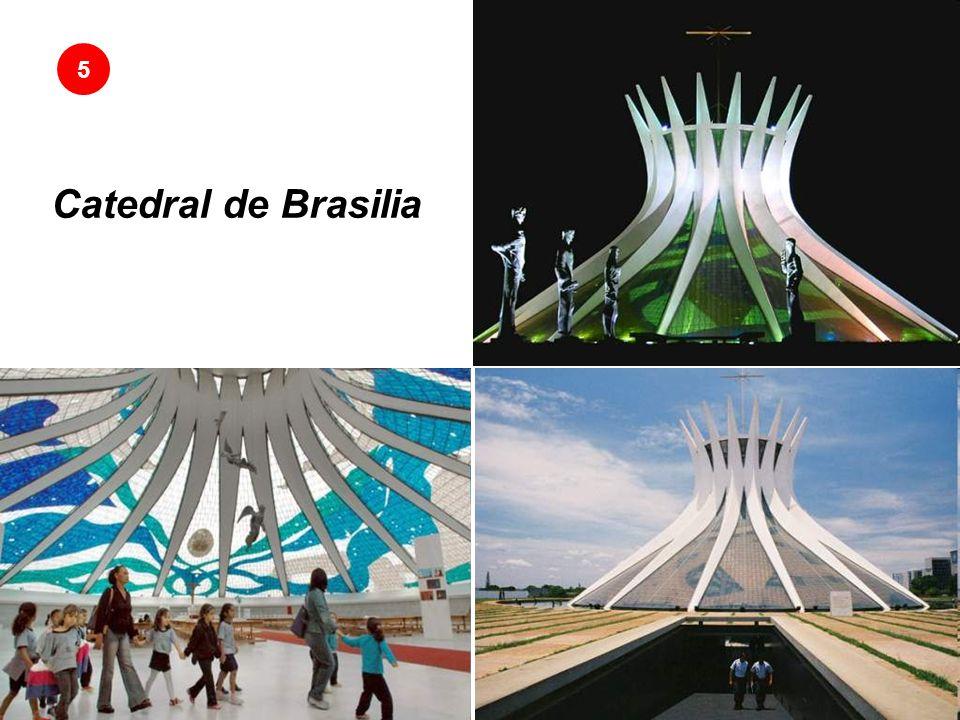 Catedral de Brasilia La moderna iglesia del arquitecto Oscar Niemeyer La Catedral Metropolitana Nuestra Señora Aparecida en la capital de Brasil es una expresión del arquitecto Oscar Niemeyer.