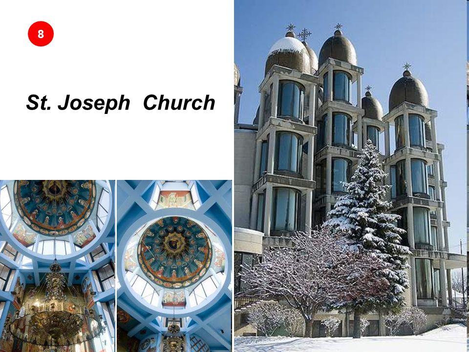 St. Joseph Church Conocida por su techo de trece domos dorados. 8 San José el prometido es una iglesia católica greco-ucraniana en Chicago. Construida