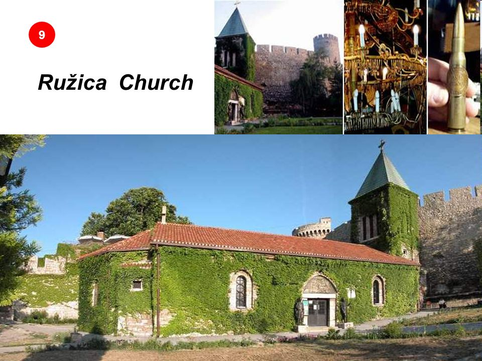 Ružica Church Donde los candelabros están hechos con conchas de balas 9 Sus candelabros son totalmente hechos con carcazas de balas usadas, con partes