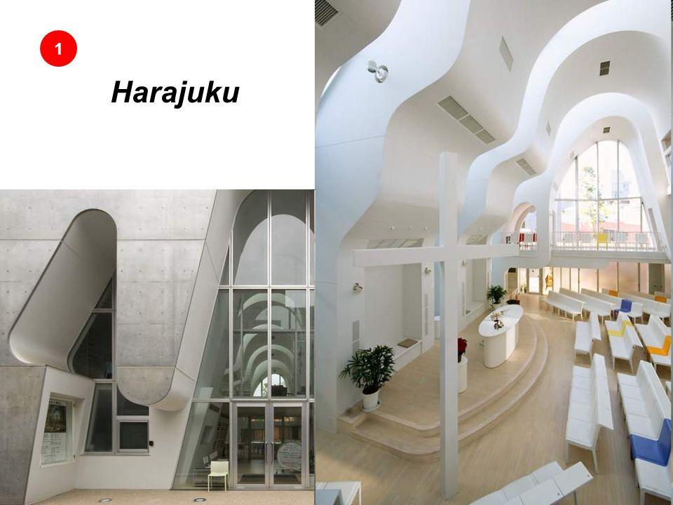 1 Este futurista iglesia protestante se encuentra en Tokio y es un diseño de la empresa Ciel Rouge Creation en el 2005. El techo está diseñado especia