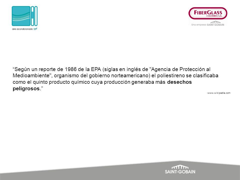 Según un reporte de 1986 de la EPA (siglas en inglés de