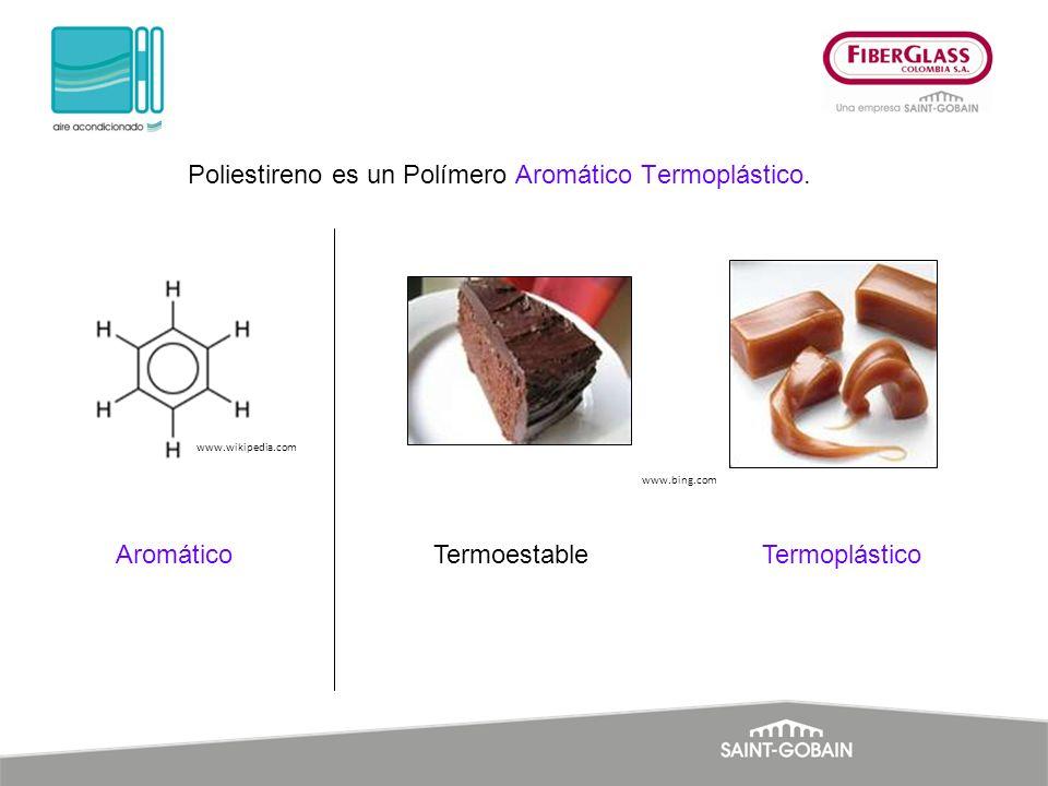 Poliestireno es un Polímero Aromático Termoplástico. Aromático www.wikipedia.com TermoestableTermoplástico www.bing.com