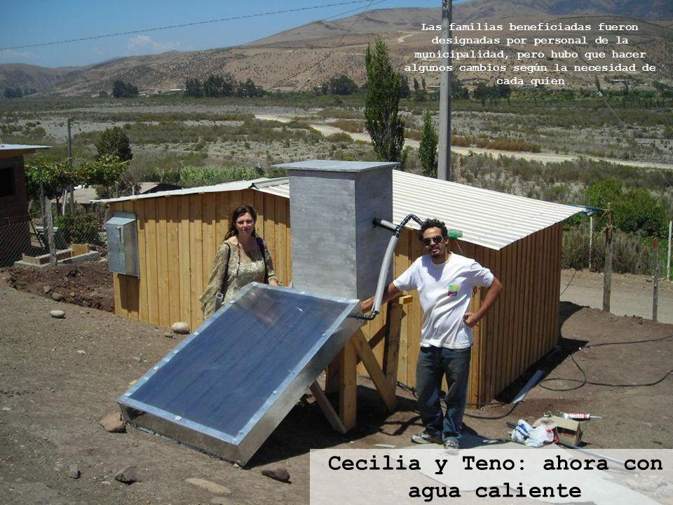 Cecilia y Teno: ahora con agua caliente Las familias beneficiadas fueron designadas por personal de la municipalidad, pero hubo que hacer algunos camb