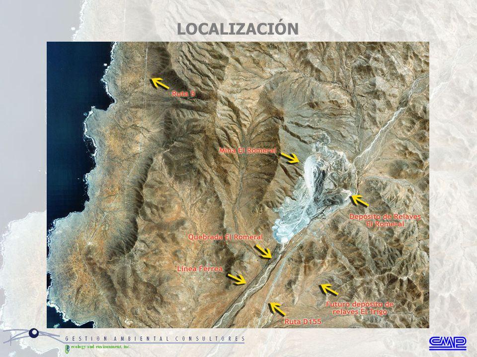 La faena minera comprende una mina explotada a rajo abierto, una Planta de Beneficio ubicada junto al rajo, un acopio de minerales, talleres e instalaciones anexas.