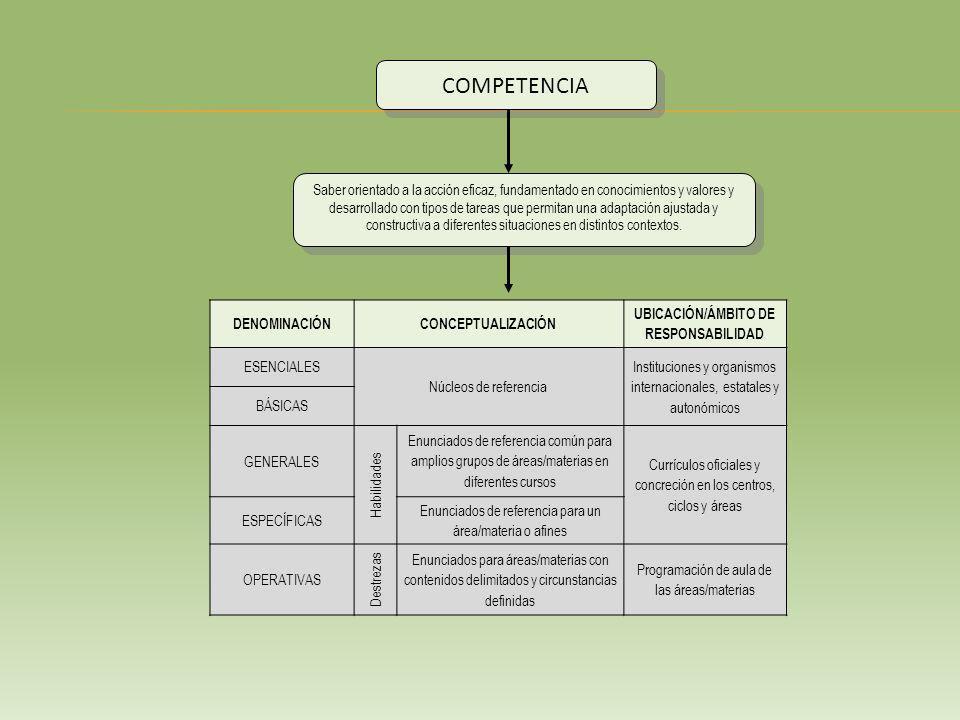 Saber orientado a la acción eficaz, fundamentado en conocimientos y valores y desarrollado con tipos de tareas que permitan una adaptación ajustada y constructiva a diferentes situaciones en distintos contextos.