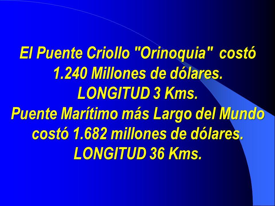 El Puente Criollo Orinoquia costó 1.240 Millones de dólares.