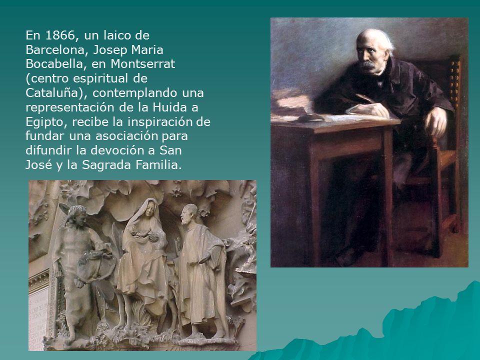 En 1866, un laico de Barcelona, Josep Maria Bocabella, en Montserrat (centro espiritual de Cataluña), contemplando una representación de la Huida a Eg