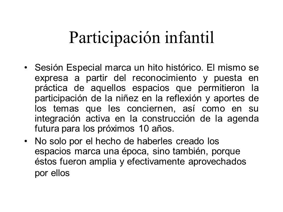 Participación infantil Sesión Especial marca un hito histórico.