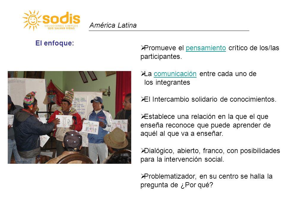 América Latina Promueve el pensamiento crítico de los/las participantes.pensamiento La comunicación entre cada uno decomunicación los integrantes El I