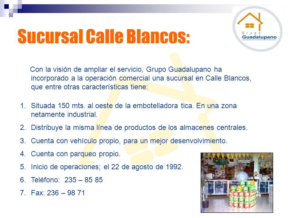 Con la visión de ampliar el servicio, Grupo Guadalupano ha incorporado a la operación comercial una sucursal en Calle Blancos, que entre otras caracte