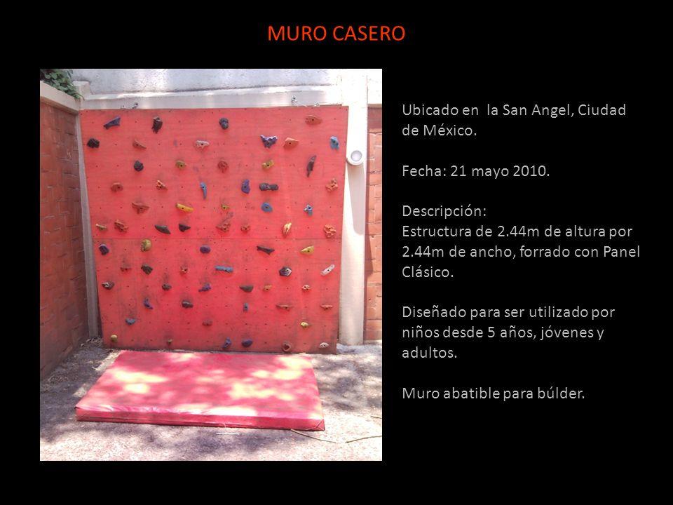 Ubicado en la San Angel, Ciudad de México. Fecha: 21 mayo 2010. Descripción: Estructura de 2.44m de altura por 2.44m de ancho, forrado con Panel Clási