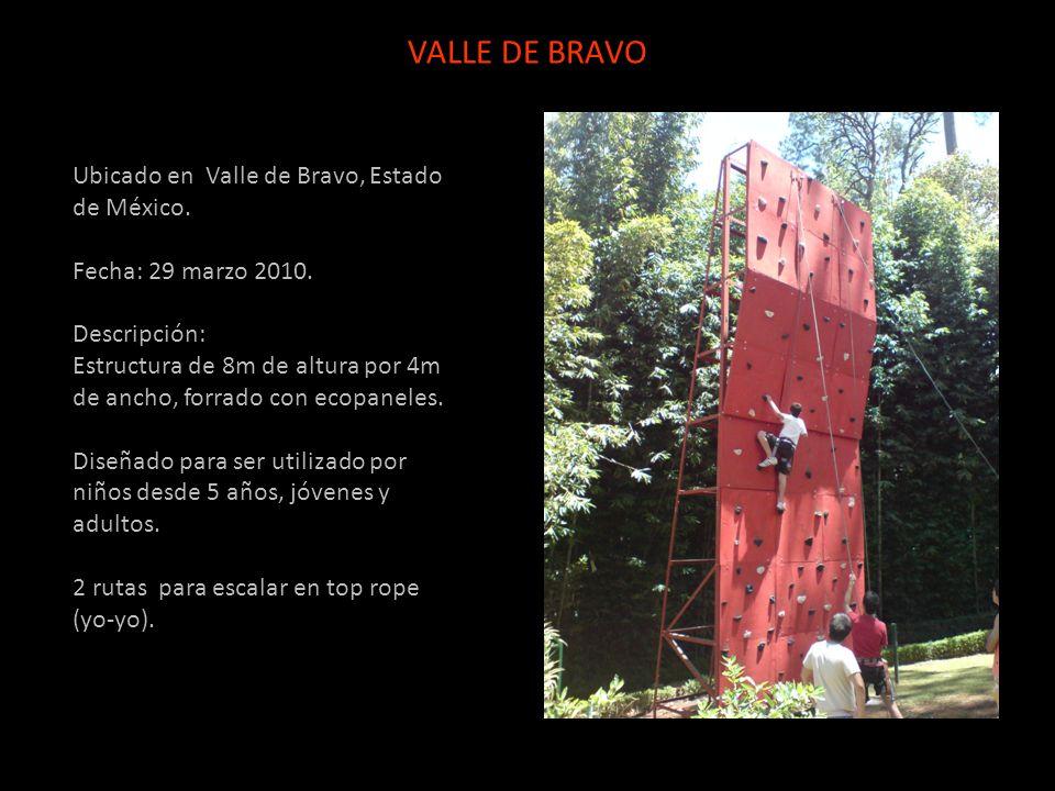 Ubicado en Valle de Bravo, Estado de México. Fecha: 29 marzo 2010. Descripción: Estructura de 8m de altura por 4m de ancho, forrado con ecopaneles. Di