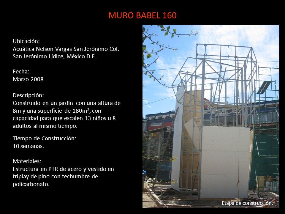 Ubicación: Acuática Nelson Vargas San Jerónimo Col. San Jerónimo Lídice, México D.F. Fecha: Marzo 2008 Descripción: Construido en un jardín con una al
