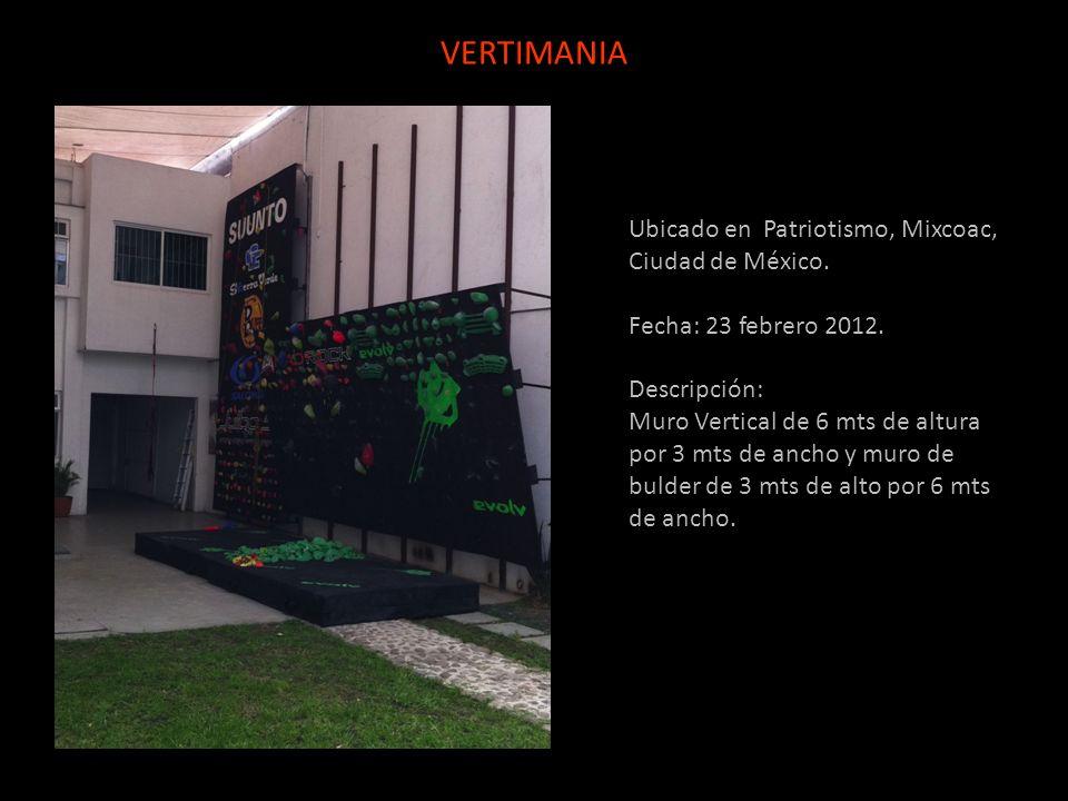 Ubicado en Patriotismo, Mixcoac, Ciudad de México. Fecha: 23 febrero 2012. Descripción: Muro Vertical de 6 mts de altura por 3 mts de ancho y muro de