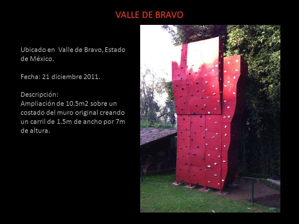 Ubicado en Valle de Bravo, Estado de México. Fecha: 21 diciembre 2011. Descripción: Ampliación de 10.5m2 sobre un costado del muro original creando un