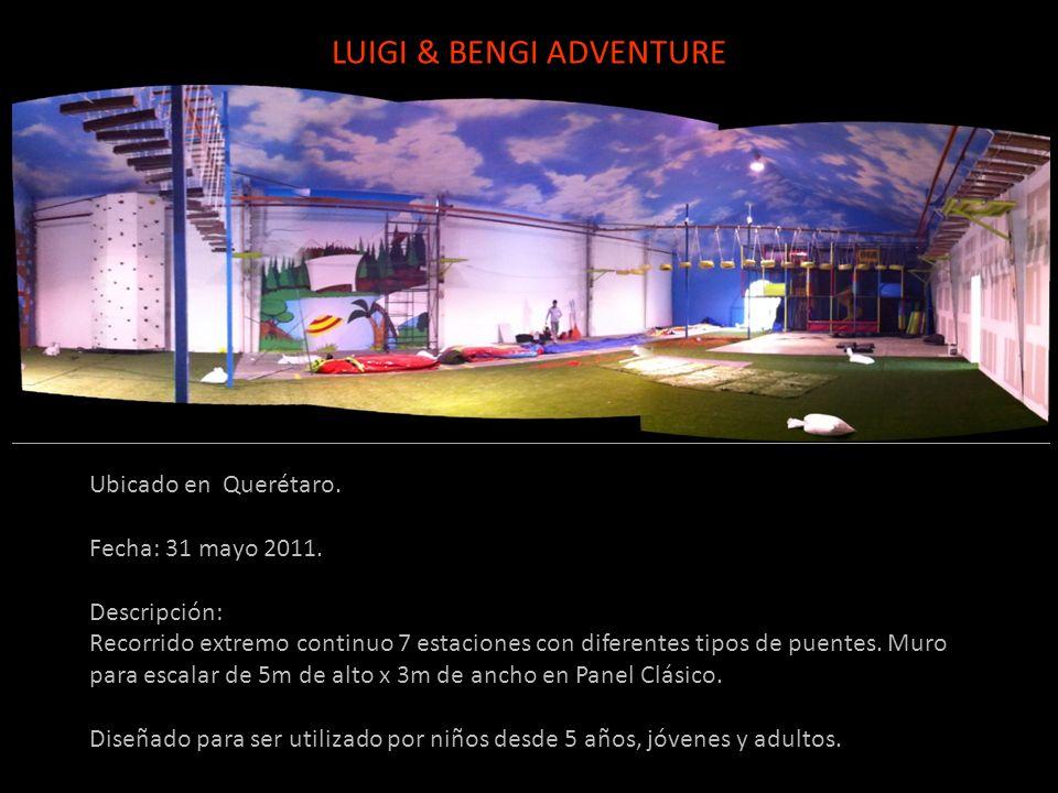 Ubicado en Querétaro. Fecha: 31 mayo 2011. Descripción: Recorrido extremo continuo 7 estaciones con diferentes tipos de puentes. Muro para escalar de
