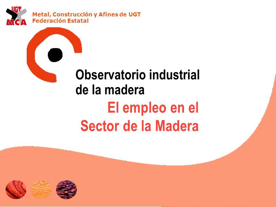 Metal, Construcción y Afines de UGT Federación Estatal El empleo en el Sector de la Madera Observatorio industrial de la madera
