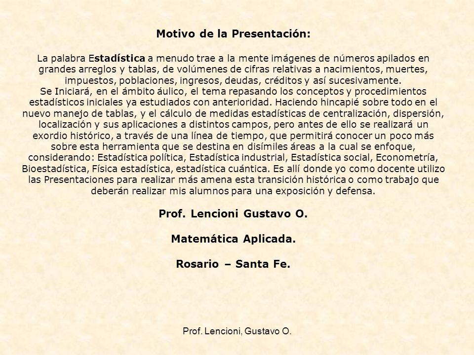 Prof.Lencioni, Gustavo O.