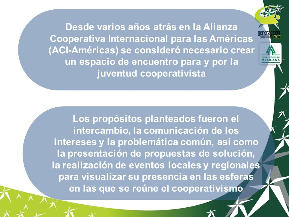 Desde varios años atrás en la Alianza Cooperativa Internacional para las Américas (ACI-Américas) se consideró necesario crear un espacio de encuentro