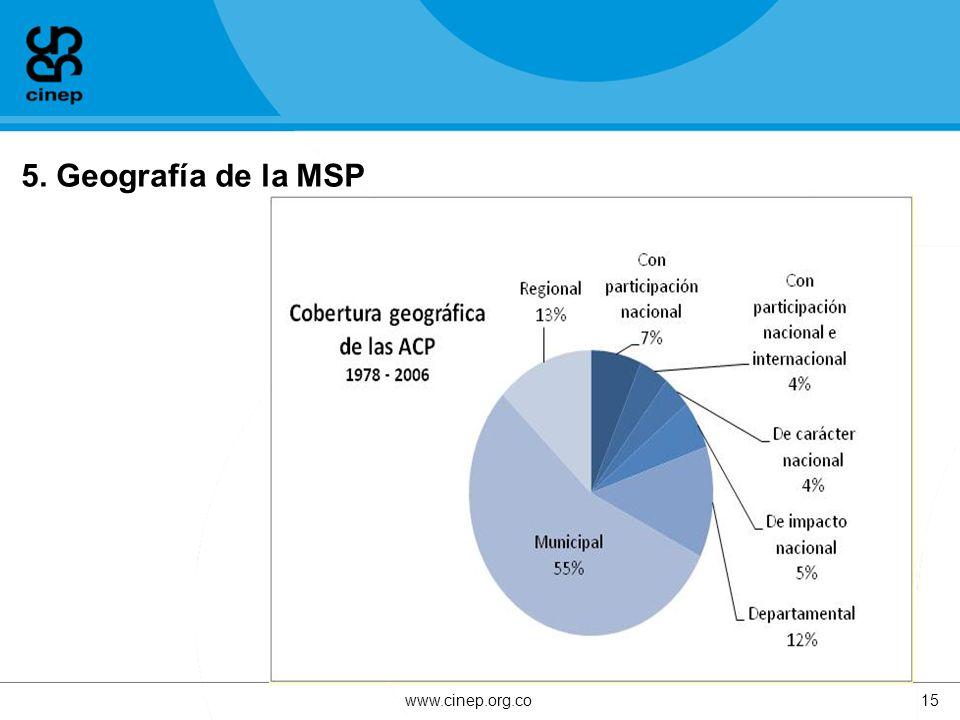 5. Geografía de la MSP www.cinep.org.co15
