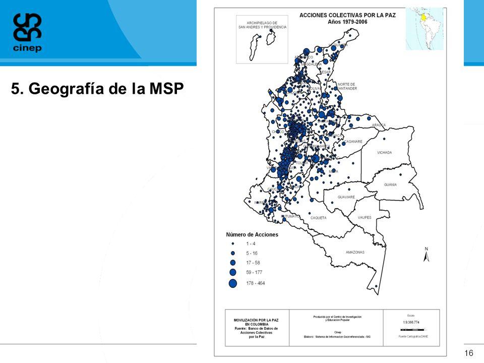 5. Geografía de la MSP www.cinep.org.co16