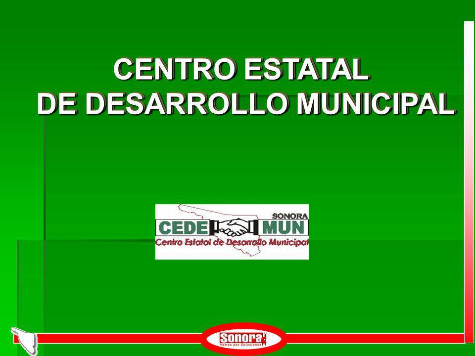 CENTRO ESTATAL DE DESARROLLO MUNICIPAL CENTRO ESTATAL DE DESARROLLO MUNICIPAL