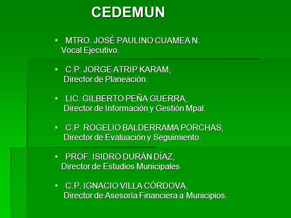 CEDEMUN MTRO. JOSÉ PAULINO CUAMEA N. MTRO. JOSÉ PAULINO CUAMEA N.
