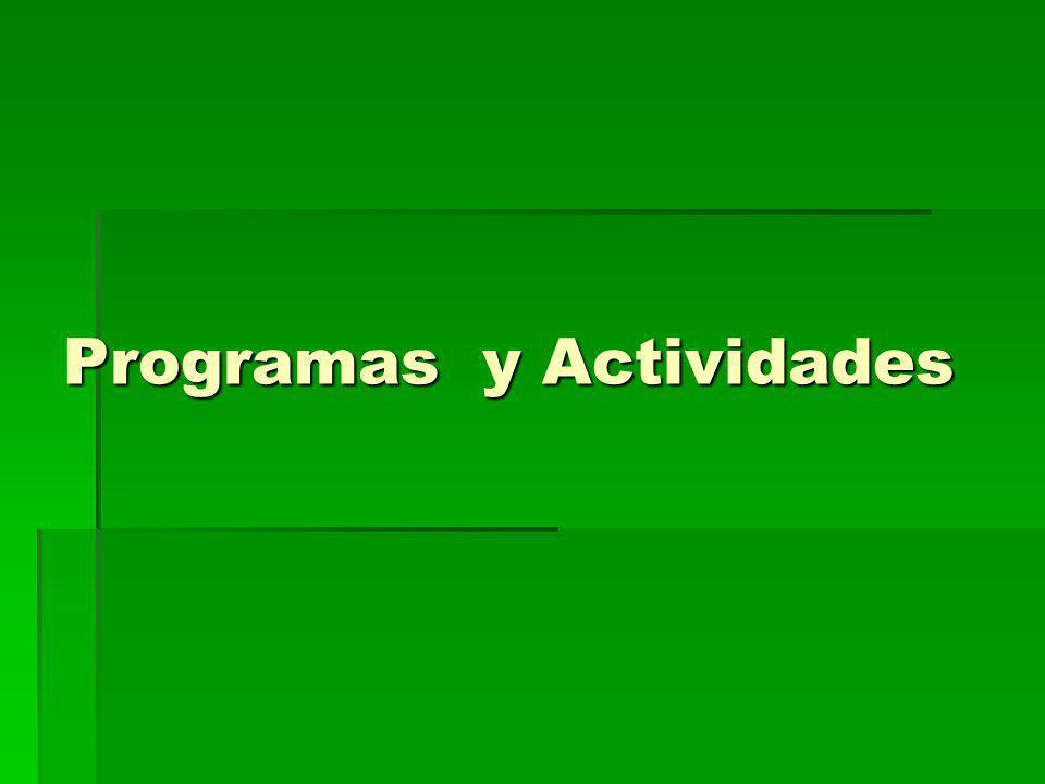 Programas y Actividades