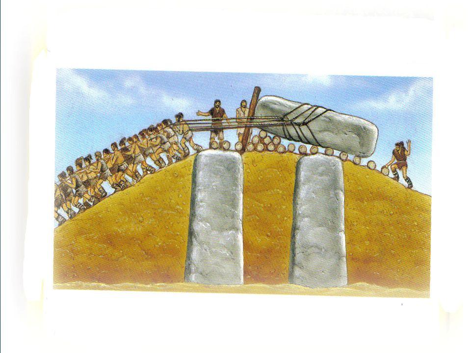 Los dólmenes Un dolmen, quiere decir mesa grande de piedra.