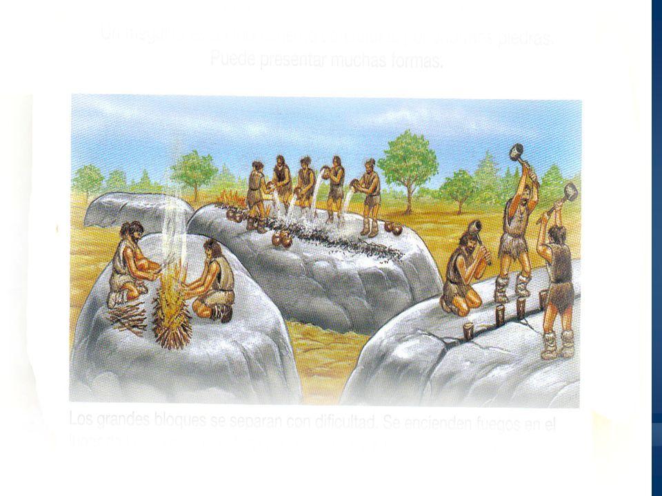 Construcción de un megalito A veces hay que transportar los bloques de piedra.
