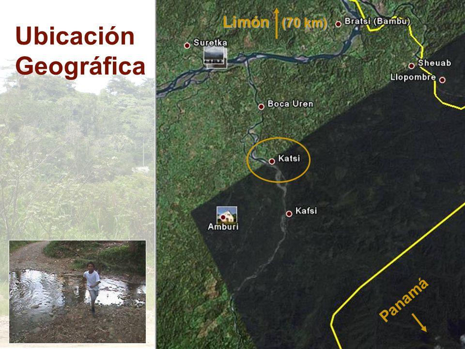 Ubicación Geográfica Panamá Limón (70 km)