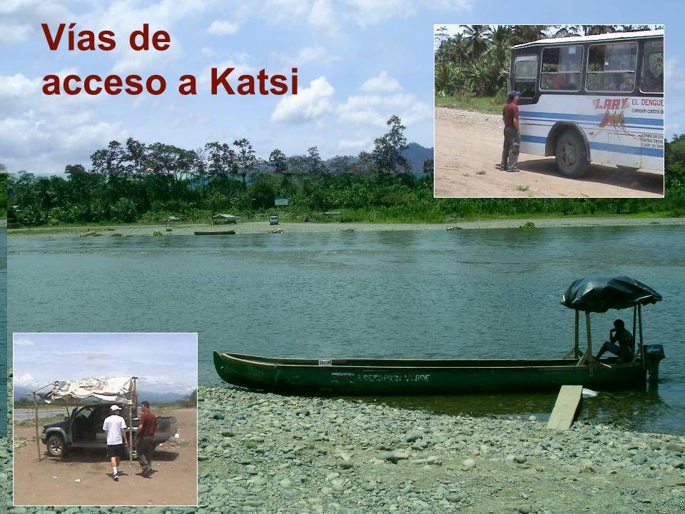 Vías de acceso a Katsi