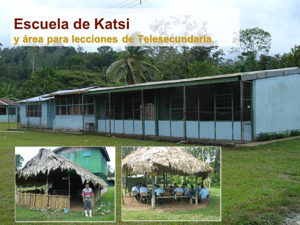 y área para lecciones de Telesecundaria Escuela de Katsi y área para lecciones de Telesecundaria