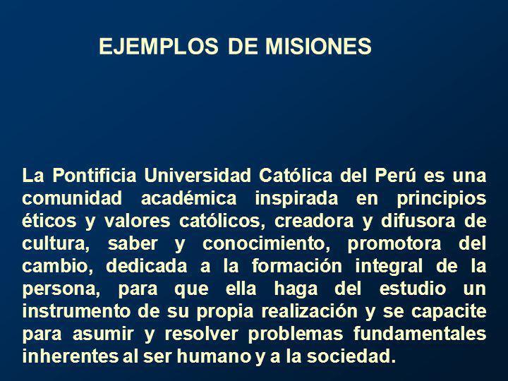 La Pontificia Universidad Católica del Perú es una comunidad académica inspirada en principios éticos y valores católicos, creadora y difusora de cult