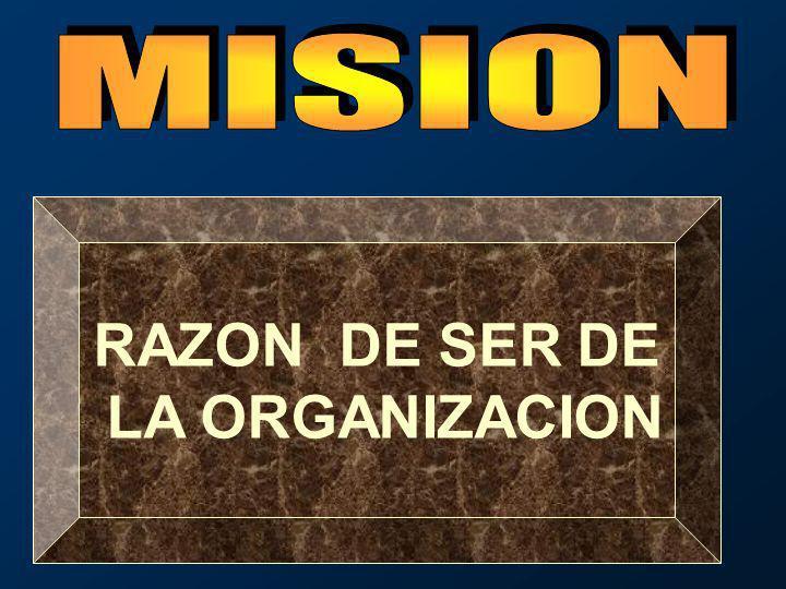 RAZON DE SER DE LA ORGANIZACION