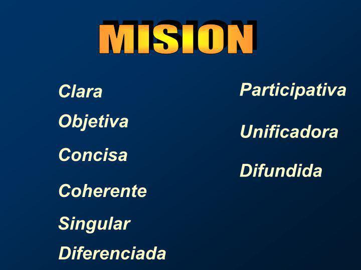 La Visión es un reto asumido por la organización…….